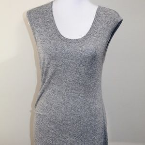 T Alexander Wang Dress Grey Droop Fitted Stretch M